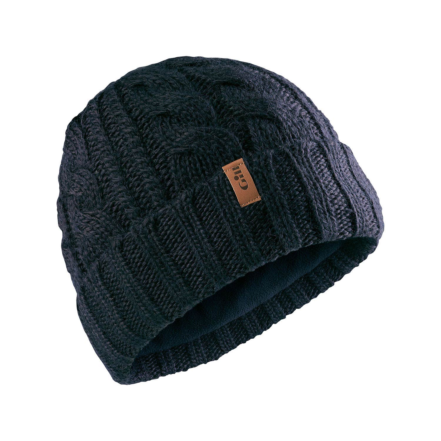 Knitting Pattern For Cable Beanie : Gill Cable Knit Beanie - Navy - Sailing Caps Hats and ...