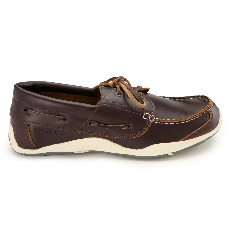 2014 henri lloyd annapolis leather deck shoe brown pull
