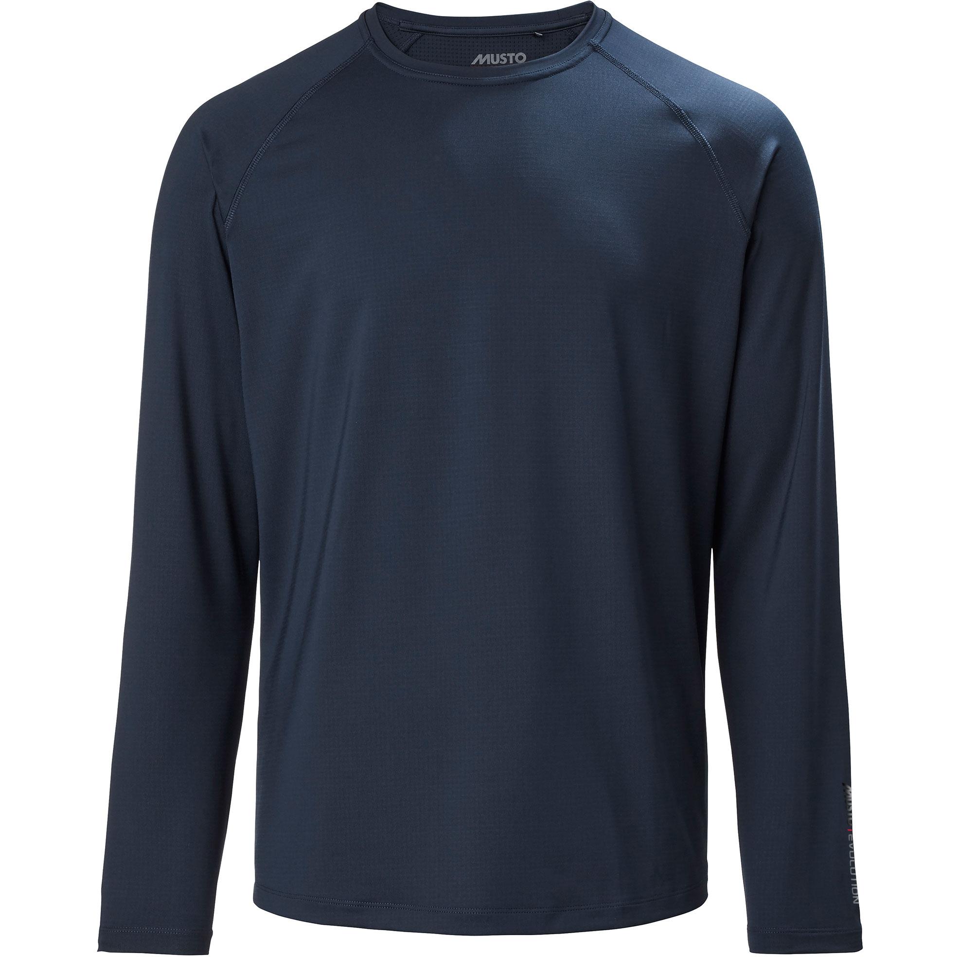Respirant UPF40 Musto T-Shirt Manches Longues /à Manches Longues Sunblock Evolution Bleu Marine L/éger