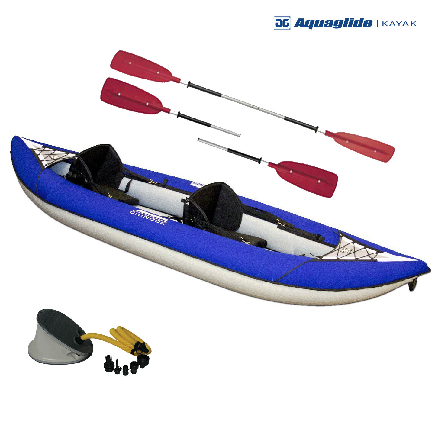 Aquaglide Chinook Xp 2 Person Inflatable Kayak Package