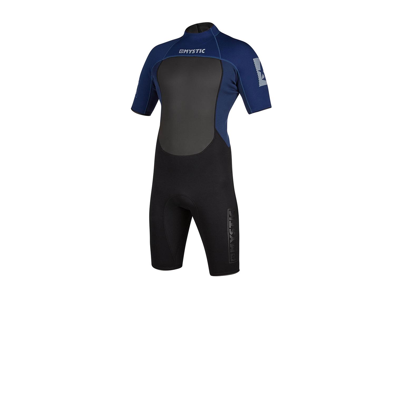 Mystic 2020 Brand 3//2mm Shorty Back-Zip Flatlock Wetsuit Black