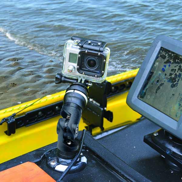 Railblaza camera mount kit gopro kayak fishing for Gopro fishing mounts