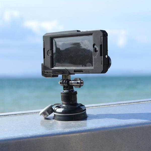 Railblaza camera mount adapter gopro kayak fishing for Gopro fishing mounts