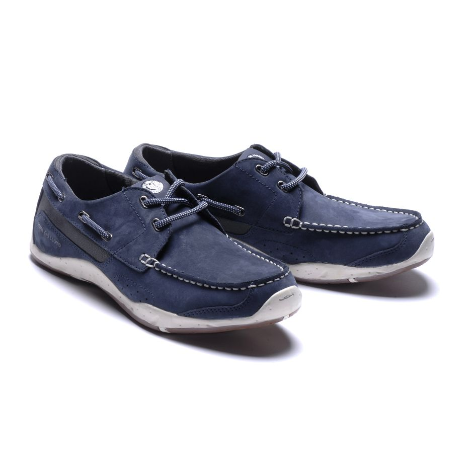 Henri Lloyd Valencia Leather Deck Shoes Boat Shoes 2016 - Navy