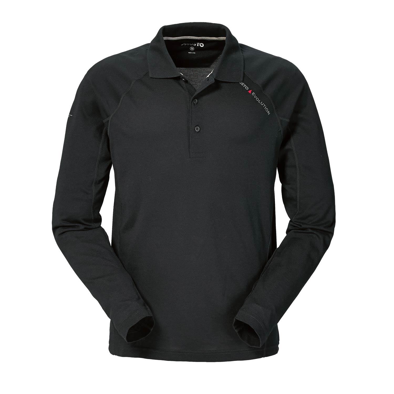Musto Evolution Sunblock Long Sleeve Polo Black Coast