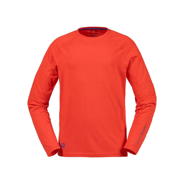 musto evolution sunblock long sleeve t shirt fire orange