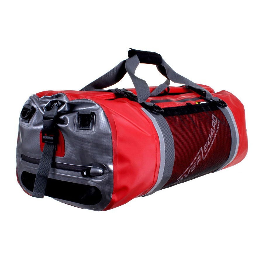 Overboard Pro Sports Waterproof Duffel Bag 60 Ltr Red