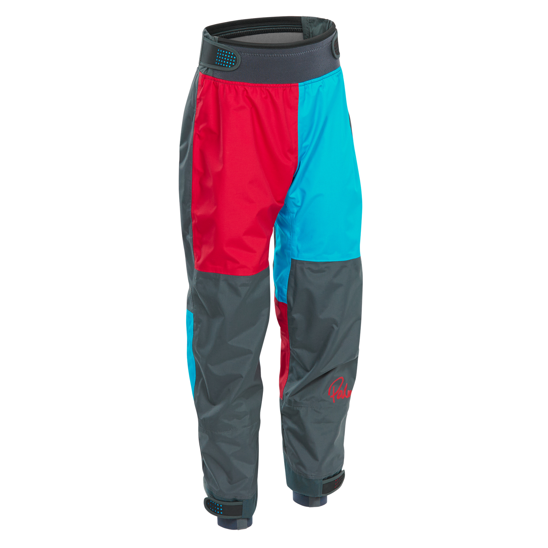 Palm Rocket Kids Pants 2017 Aqua Red Coast Water Sports