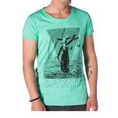 Mystic Kitesurfing T Shirt 2016 -  Blind Judge - Paradise Green melee