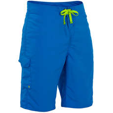 Palm Skyline Board Shorts  - Blue