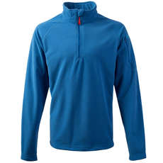 Gill Grid Microfleece Zip Neck - Blue