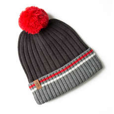 Gill Offshore Knit Beanie - Graphite/Red