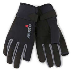 Musto Essential Long Finger Sailing Gloves - 2019 - Black
