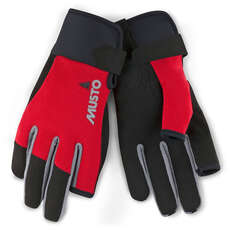 Guantes De Vela Largos Musto Essential Finger -  - True Red