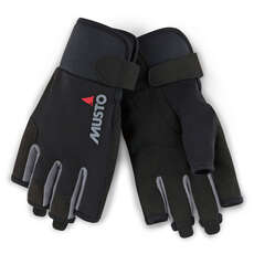 Musto Essential Short Finger Sailing Gloves - 2018 - Black