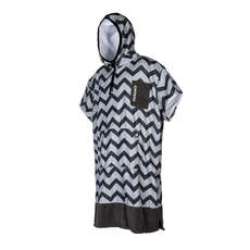 Mystic ALLOVER Print Poncho / Fleece / Changing Robe  - Light Grey