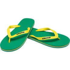 Cressi Beach Flip Flops - Green/Yellow
