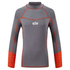 Gill Junior Pro Rash Vest Manga Larga - Gris