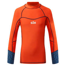 Gill Junior Pro Rash Vest Manches Longues - Orange