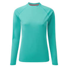 Gill Womens UV Tec Long Sleeve Tee - Turquoise