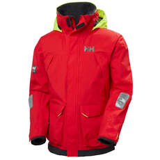 Helly Hansen Pier Coastal And Inshore Sailing Jacket - Alert Red