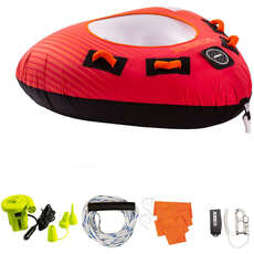 Jobe Thunder 1 Person Towable Package  - Red