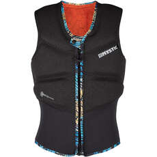 Gilet Impact  Mystic Womens Gem Kite Surf Con Zip Frontale - Nero