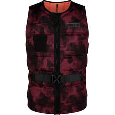 Mystic MAJESTIC Wake Boarding Front-Zip Buckle Impact Vest - Oxblood Red