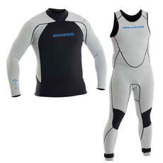 Neil Pryde Elite 1mm Firewire Sailing Wetsuit Combo Light Grey