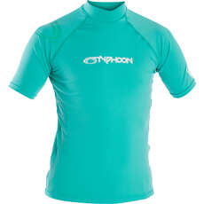 Typhoon Junior Rash Vest - Aqua Green