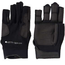 Henri Lloyd Deck Grip Short Finger Sailing Gloves - Black