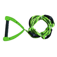 Hyperlite 25 Ft Pro Surf Rope with Handle - Green