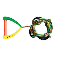 Hyperlite 25 Ft Pro Surf Rope with Handle - Rasta