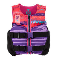 Hyperlite Youth Indy Wakeboard Vest - Negro / Rosa