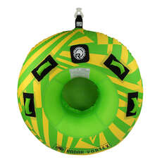 Radar Vortex 1 Person Towable Tube with Rope - Yellow/Green