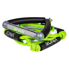 Ronix 25 'bungee Surf Rope With Handle - Green / Silver