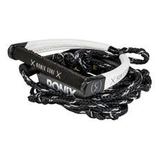 Ronix 25' PU Synthetic Bungee Surf Rope with Handle - Black