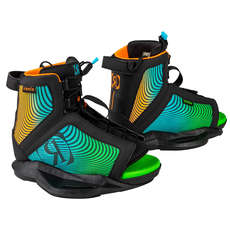 Ronix Boy's Vision Wakeboard Boot - Black/Orange/Green