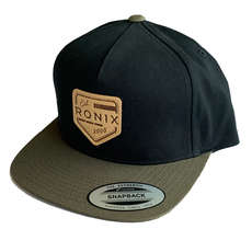 Ronix Forester 5 Panel Snap Back Hat - Black/Green
