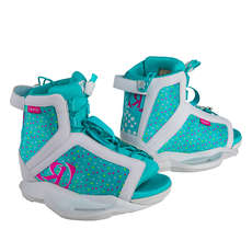 Ronix Girl's August Wakeboard Boot - White / Pink / Blue Orchid