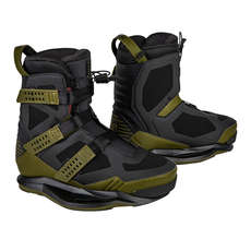 Ronix Supreme EXP Intuition Wakeboard Boot - Olive/Red