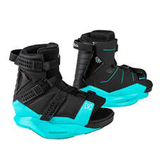 Ronix Women's Halo Wakeboard Boot - Black/Blue Orchid