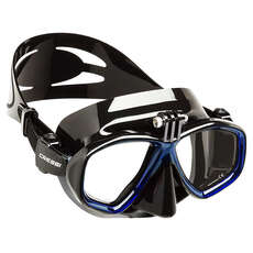 Cressi Action Diving / Snorkeling Mask Con Supporto Per Action Camera - Nero / Blu