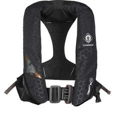 Crewsaver Crewfit+ 180N Pro Lifejacket - Black - Auto Harness Light & Hood