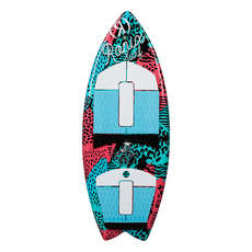 Ronix Girls Super Sonic Space Odyssey Fish Surfer - Coral / Menta / Negro