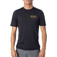 Rip Curl Driven Short Sleeve Loose Fit UV Tee  - Black