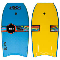"Alder 33"" APEX-01 HDPE Pro Bodyboard - Blue/Yellow"