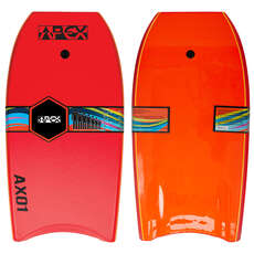 "Alder 39"" APEX-01 HDPE Pro Bodyboard - Red/Orange"