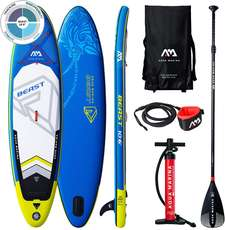 Aquamarina BEAST Inflatable Paddle Board SUP Package - Blue/Yellow