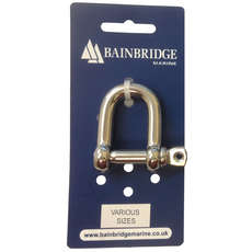 Bainbridge Marine Large 314 Stainless Steel D Shackles